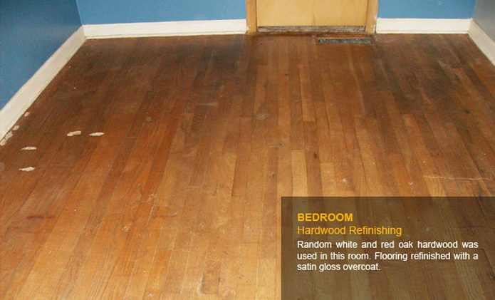 Bedroom Hardwood Refinishing Before
