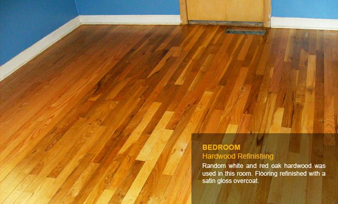Bedroom Hardwood Refinishing After