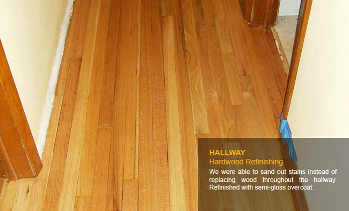 Hallway Hardwood Refinishing - After