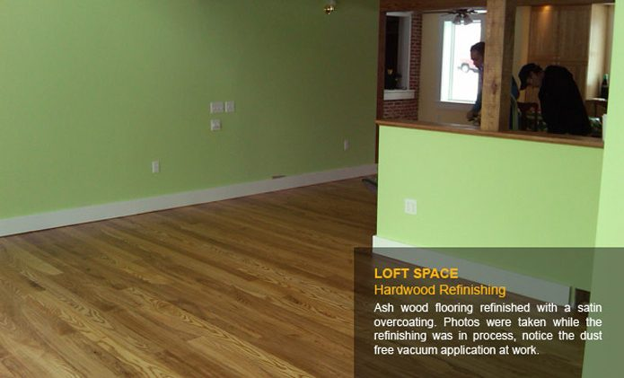 Living Room Hardwood Repair & Refinishing - Before