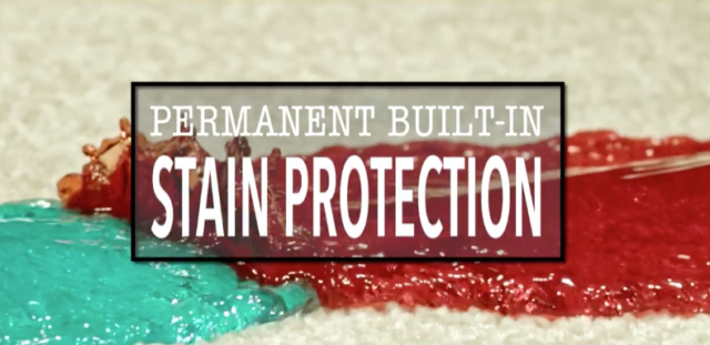 built-in stain protection